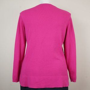 crown & ivy Sweaters - Crown & Ivy Sweater Pink Animal Print 100% Cotton